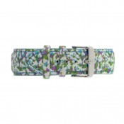 Violet Flowers Fabric Strap