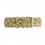 Cloth Flower Green Strap