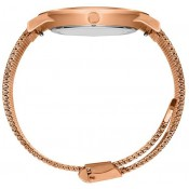 Milanese Rose Gold Swarovski Watch