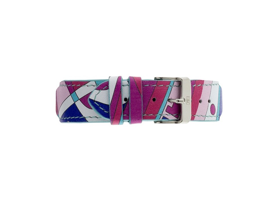 Pink Multicolor Leather Strap