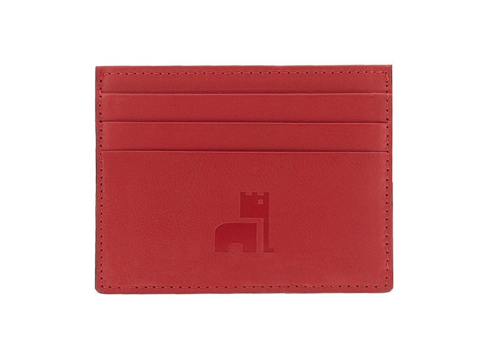 Red Nappa Card Holder