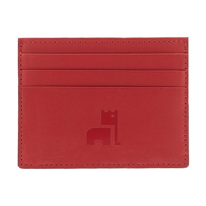 Red Nappa Card Holder