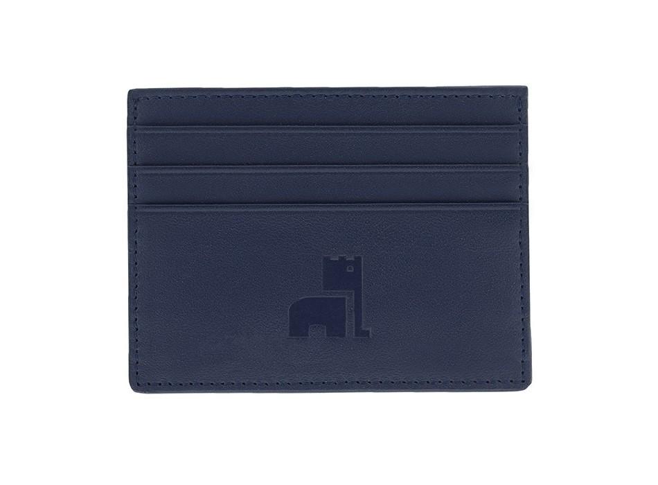 Blue Nappa Card Holder