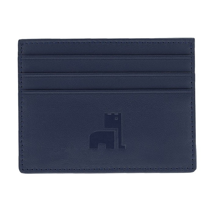 Blue Nappa Card Holder