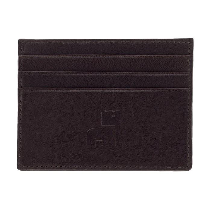 Dark Brown Nappa Card Holder
