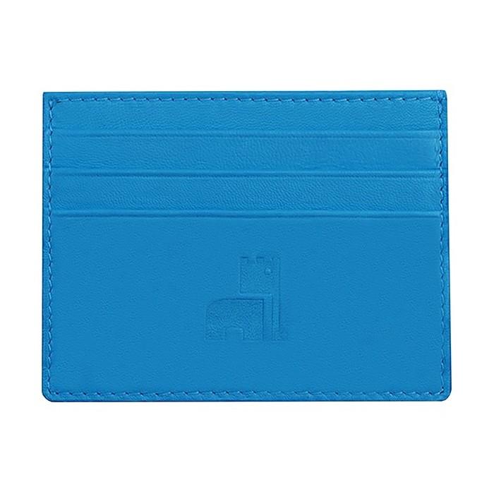 Nappa Card Holder Blue Sky