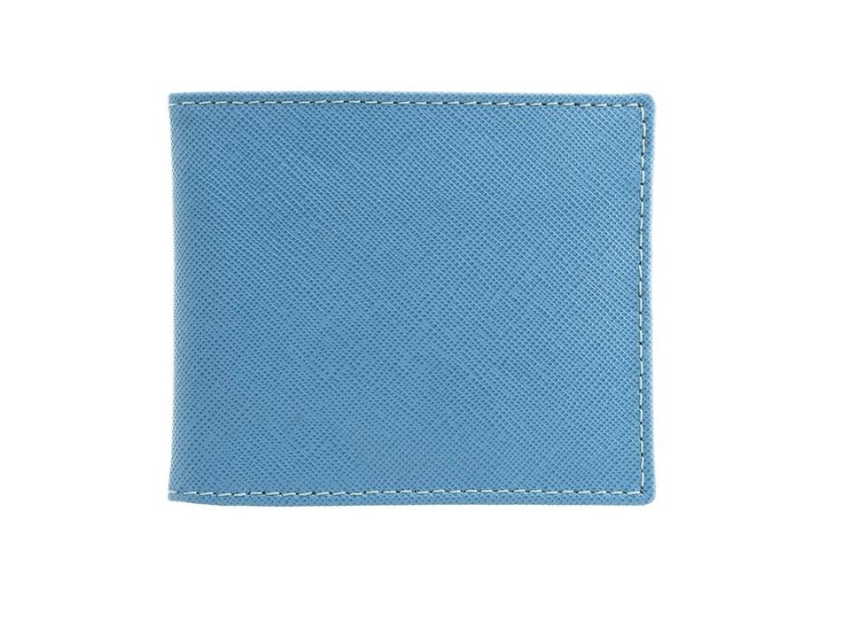 Light Blue Saffiano Leather Wallet