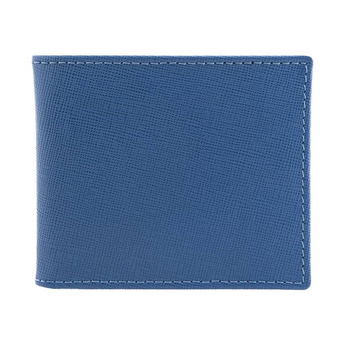 Blue Saffiano Leather Wallet